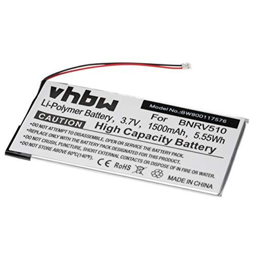 vhbw Akku kompatibel mit Barnes und Noble BNRV510 eBook Reader (1500mAh, 3,7V, Li-Polymer)