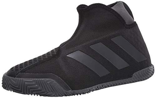 adidas Men's Stycon Laceless Clay Court Tennis Shoe, core Black/Night Met./Grey Six, 11 M US