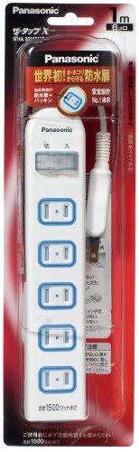 パナソニック 延長コード ザ タップX 6コ口 一括スイッチ付 1m WHA25162WP