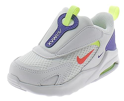 Nike Jungen Unisex Kinder Air Max Bolt Sneaker, White/Bright Crimson-Volt-Indigo Burst, 27 EU