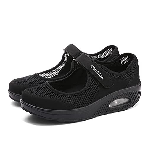 [AOIREMON] ナースシューズ レディース スニーカー おしゃれ 疲れにくい 厚底 介護靴 ウオーキングシューズ 安全靴 マジックテープ ママシューズ 美脚 軽量通気 通勤