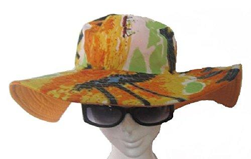Mondial-fete - Chapeau Tropical orangé