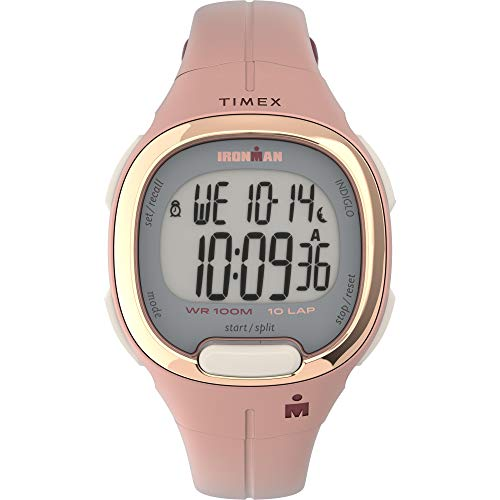 Timex Women's TW5M35000 Ironman Transit 33mm Pink/Rose Gold-Tone Resin Strap Watch