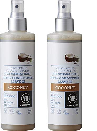 Urtekram Bio Urtekram Coconut Leave-In Spray Conditioner BIO, 250 ml (2 x 250 ml)