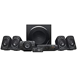 Logitech Z906 5.1 Sistema di Altoparlanti Audio Dolby Surround, Certificato THX, Dolby e DTS, ?Potenza 1000 Watt, Multidispositivo, Con Telecomando, Presa EU/IT, PC/PS4/Xbox/TV/Smartphone/Tablet
