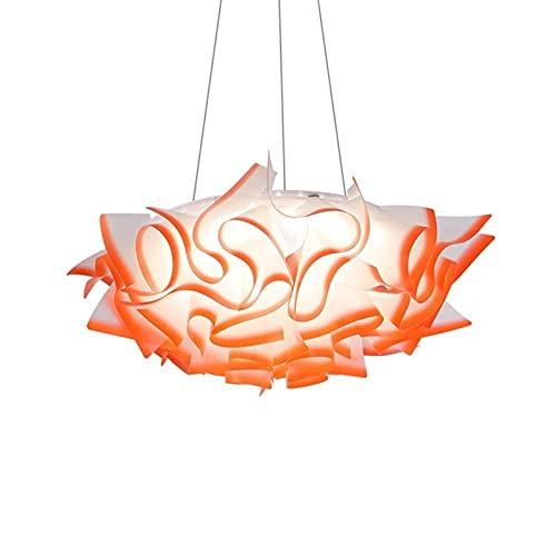 Forma de flor creativa 2 4W LED Acrílico Techo Colgante Lámpara Lámpara de araña Lámpara Colgante Iluminación Industrial Metal Metal Edison Para Decoración Almacén Pórtico Aisle (Color : Orange)