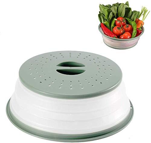 Cubierta de microondas Cubierta de placa de microondas plegable Cubierta deplástico para calentar alimentos Cubierta de conservación a prueba de salpicaduras