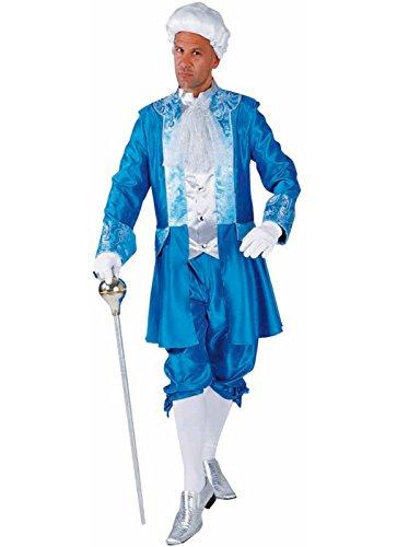 Disfraz de rococ M214260-XXL para hombre, color turquesa, talla XXL = 62