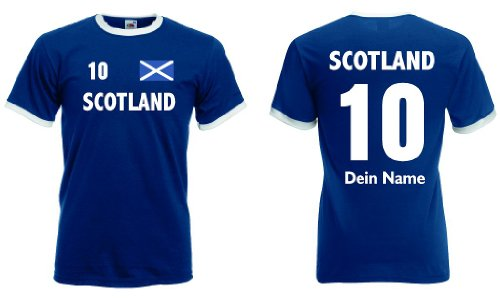 Schottland Retro Trikot mit Wunschname & Nummer von S-XXL|m-xl