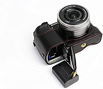 Bottom Opening Version Protective Genuine Real Leather Half Camera Cas...
