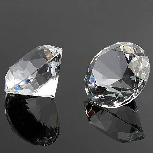 Dylan-EU 30 Stück Brillanten Glasdiamanten 20mm Klare Kristalledelsteine Hochwertiger Glas Deko Diamanten Kristall Tischdeko Streudeko Hochzeit Deko