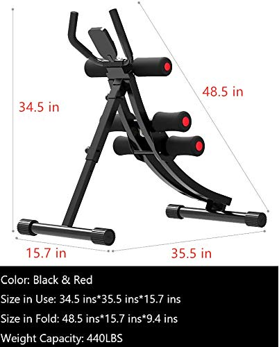 Product Image 6: Fitlaya Fitness Core & Abdominal Trainers AB Workout Machine Home Gym Strength Training Ab Cruncher Foldable Fitness Equipment