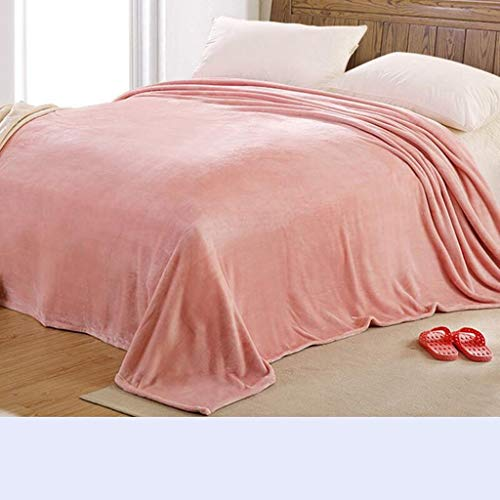Willlly Worth Having Pearl Pink Blanket Chic Casual Verdikke Keep Warm Nap Winter Student Dormitory beddengoed Quilts (Maat 180 * 200Cm)
