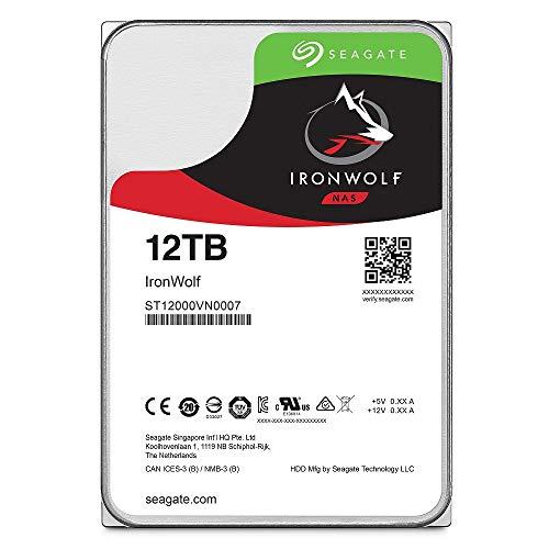 Seagate ST12000VN0007 Hard Disk Drive IronWolf NAS 12TB Sata III 256MB