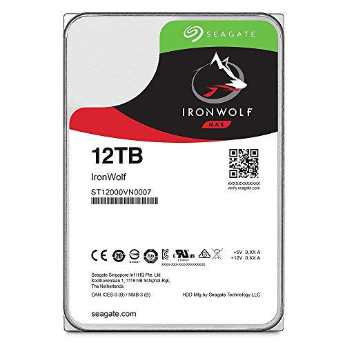 Seagate ST12000VN0007 Hard Disk Drive IronWolf NAS 12TB Sata III 256MB
