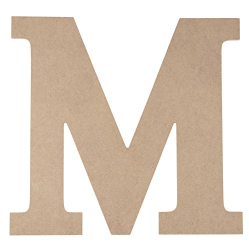Juvale Wooden Letter M for Crafts and Wall Decor (12 in)