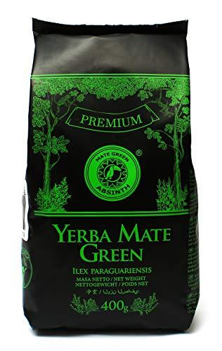 Mate Green, GreenTee Yerba Kraut I Alsem I Absinth I GRÜN Premium I Luftgetrocknet x 400 g, Grüner Tee, 1 stück