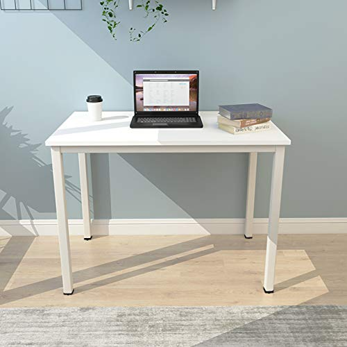 sogesfurniture Computer Desk 39.4 inches Large Office Desk Computer Table with BIFMA Certification Sturdy Office Desk Writing Desk, White BHUS-AC3DW-100