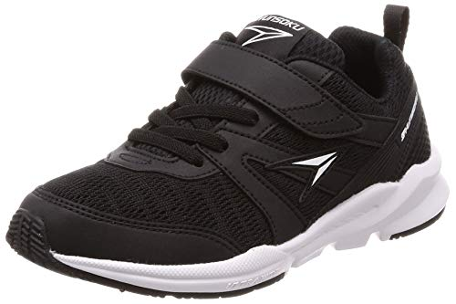 Syunsoku SJJ 6380/6390/6400/6410/6420/9570 Sneakers, Athletic Shoes, Wide, Lightweight, 3E/2E, Kid's, Boys and Girls, 5.9 - 9.8 inches (15 - 25 cm) - black