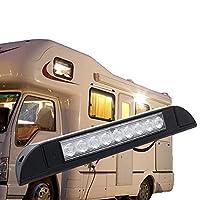 オン/オフスイッチ付きキャンピングカー用12V / 48V LEDライト、車内照明、5000K/6000Kクールホワイトライトモーターホームライト、キャンピングカー用バンインテリアライト、キャンピングカー、キャラバン、マリン,黒,18 lamp beads