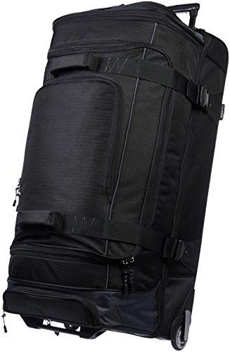 Amazon Basics - Mochila con ruedas de ripstop, 88 cm 113.1 litros - Negro