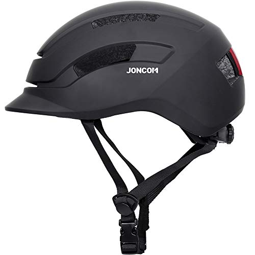 Joncom Adult Bike Helmet, Bicycle Cycling Helmets for Adult with Rechargeable Safety Light CPSC and CE Certified Adjustable Size for Men/Women Skateboard Mountain Biking Climbing