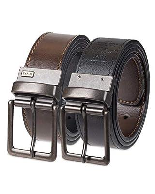 Levi's Men's Reversible Bridle Belt W/antique Finish Buckle,Brown/Black,34