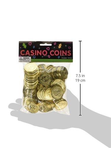 Amscan 144-Casino-Münzen (Gold) - 3