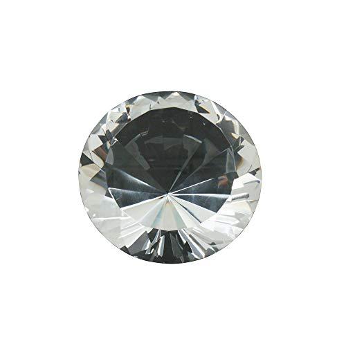 Sagebrook Home 13947 Kristalldiamant, 15,2 x 15,2 x 10,2 cm, klar/matt