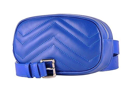 Bolsa de cintura con correa de mujer de cuero genuino - FLORA...