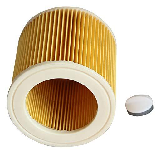 KingBra - Filtro de aire para aspiradora húmeda y seca, sustituye a aspiradoras KARCHER A/WD, todas las series como A2004 A2054 A2204 A2656 WD2.250 WD3.200 WD3.300