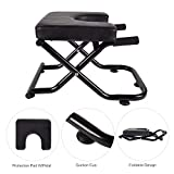 YU YUSING Yoga Headstand Inversion Bench with Suction Cup, Fitness Stand Yoga Chair for feet up Yoga Trainer Leg Stool Workouts for Family, Gym (Pure Black)