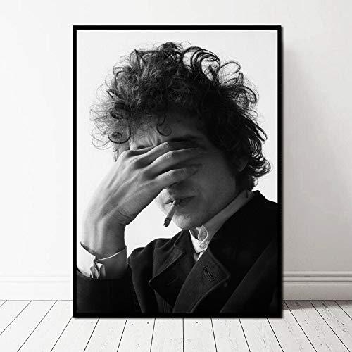 TELEGLO (No Frame) 50 * 70cm Bob Dylan Poster Musik Singer Poster Kunst Leinwand Kunstdruck Wandbilder für Wohnzimmer