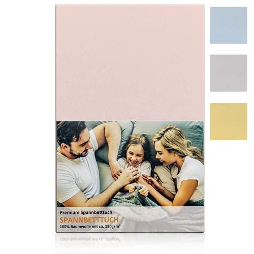 Blossom N8® Spannbettlaken 150 gr/m²/ produziert in Österreich / Größe 60x120 cm bis 70x140 cm / 100% Baumwolle Premiumqualität in rosa / für Babybett & Kinderbett /