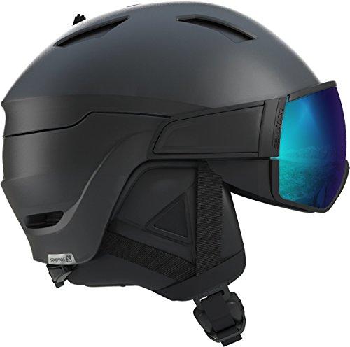 Salomon Herren Driver S Ski- und Snowboardhelm, mit Visier, OTG-Lösung für Brillenträger, EPS 4D-Innenschaum, Kopfumfang 56-59 cm, schwarz, Größe M, L40534500