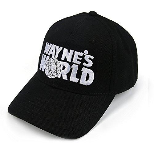 Nofonda Unisex Wayne's World Cap, Baseballmütze mit Besticktem Logo, Snapback Hut als Cosplay-Kostüm Zubehör oder Geschenk, für Sport oder Freizeit