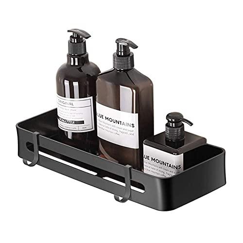 Duschablage ohne Bohren, Duschregal mit Haken, Multifunktions Dusche Ablage Duschkorb für Bad und Küche, Raum Aluminium (Single)