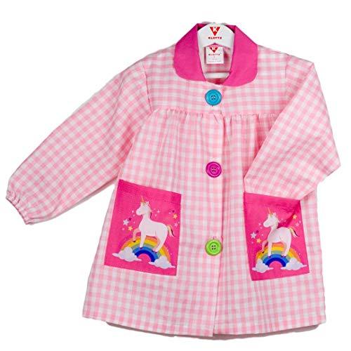 Klottz - Grembiule da bambina con unicorno Rosa 2
