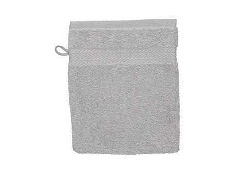 Betz Gant de Toilette pour Visage Corps Gant de Toilette Taille 16x21 cm 100% Coton Premium Couleur Gris argenté
