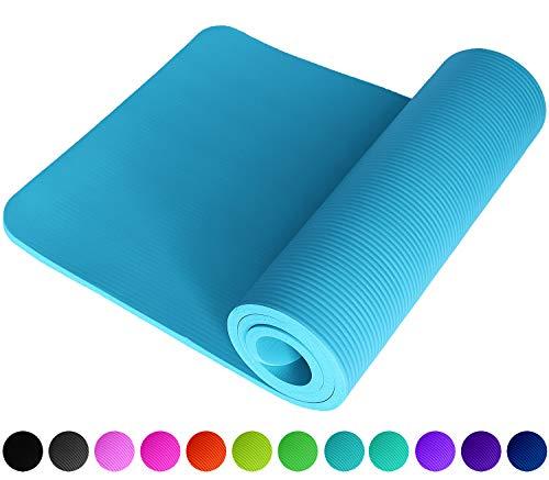 NEU Fitnessmatte Hellblau Babyblau Himmelblau Lightblue SkyBlue Cyan Fitness Gymnastik Sport Turnen Pilates 1,5 cm dick weich 183 x 61 Trageband rutschfest Yogamatte Gymnastikmatte Unterlage ReFit
