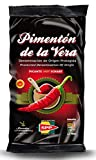 Pimentón de la Vera Ahumado, Producto con la Denominación de Origen Protegida D.O.P. Condimento Apto para Celíacos. (Picante, 250g)