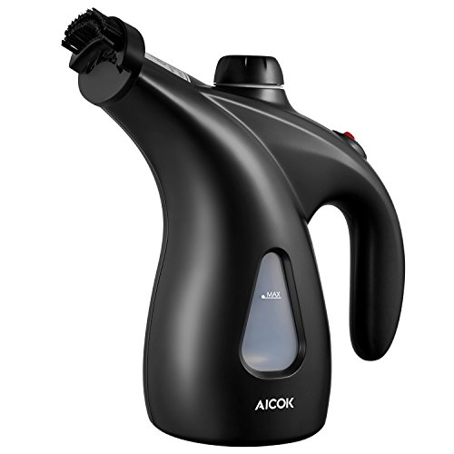 Steamer for Clothes, AICOK 950W 30S Fast Heat-up Handheld Garment Steamer for Travel and Home, 2020 New Upgrade 200ML (7.04 oz) Large Water Tank Portable Mini Steamer, Black