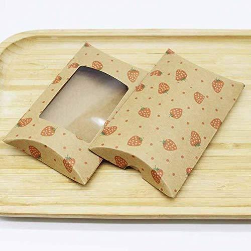 10 unids / lote nueva caja de almohada con ventana Jelry, collar y caja de pendientes, diseños de marmoleado, caja de regalos con patrón de flor, 12,5 * 8 * 2 cm-caja mismo aspic, 10box10card7
