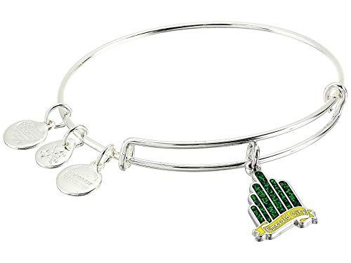Alex and Ani Wizard of Oz, Emerald City Bangle Bracelet Shiny Silver One Size