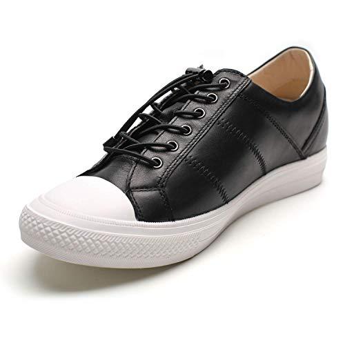CHAMARIPA Elevador Zapatos Hombres Altura Aumento Cuero Deporte Zapatilla Casual Levantamiento Azul Invisible Talón Zapatos Platina 2.36inch-H81C89K012D