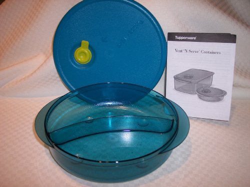 Tupperware Vent N Serve Microwave Round Divided Dish