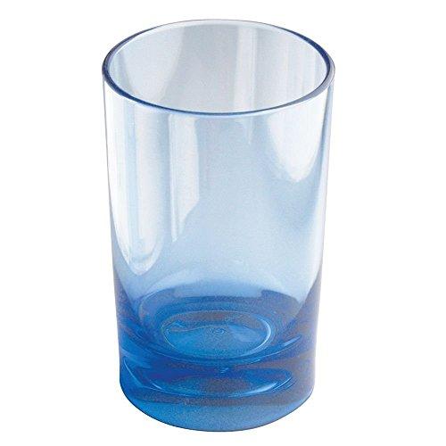 "iDesign Eva BPA-Free Plastic Bathroom Tumbler Cup , Soap box, Diffuser, holder - 2.75"" x 2.75"" x 4.25"", Ocean Blue"
