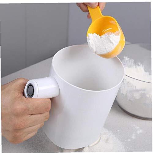 LAVALINK 1pc weiß elektrischer Edelstahl Mehlsieb Power-Mesh-Sieb Küche Backzubehör Küchenzubehör Hand Flour
