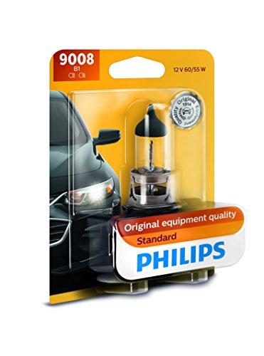 Philips 9008 (H13) Lámpara Delantera Halógena Estándar de Repuesto, paquete con 1 pieza