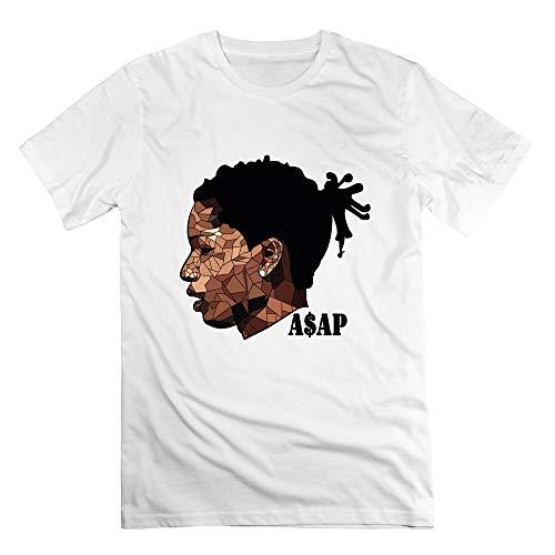 Free World Herren T-Shirt ASAP Rocky - Klassisches Kurzarm-T-Shirt